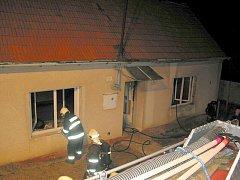Požár rodinného domu v Korytné
