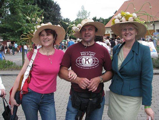 Festival česneku v Buchlovicích.