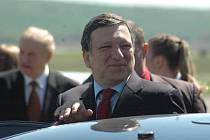 Předseda Evropské komise José Manuel Barroso přistál na kunovickém letišti.