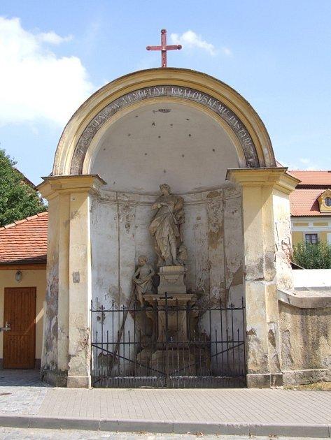 Socha svatého Vendelína.