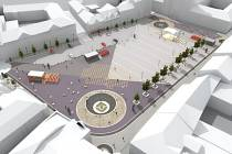 Vizualizace Masarykova náměstí v Uh. Hradišti.
