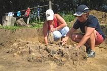Archeologové objevili pozůstatky starodávné slovanské pece.
