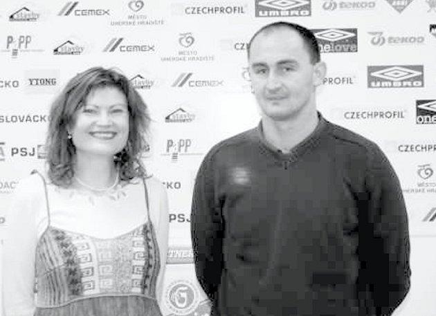 Marcela Mrázková a Petr Pojezný. Právě k nim se upínají naděje fanoušků Slovácka, že dovedou klub zpět do první ligy.