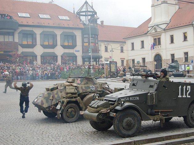 Ukázky bojů o město v Uherském Brodě