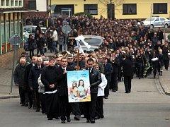 Pohřeb Natálie Čaňové a Karolíny Rolincové v Nivnici.