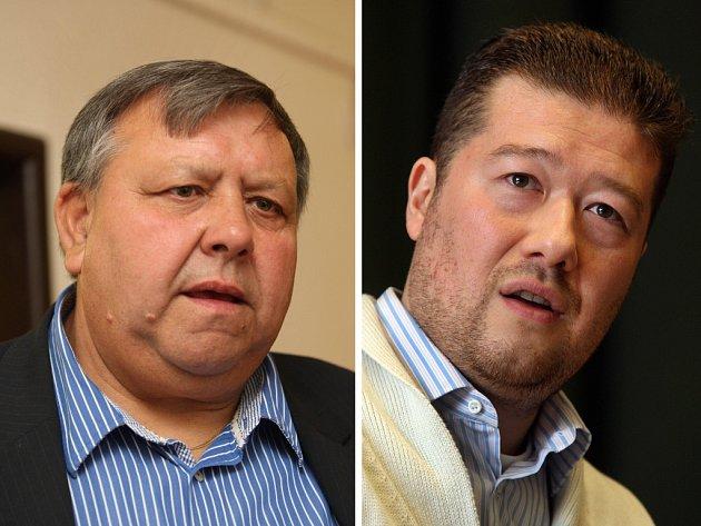 Stanislav Mišák (vlevo) vs. Tomio Okamura