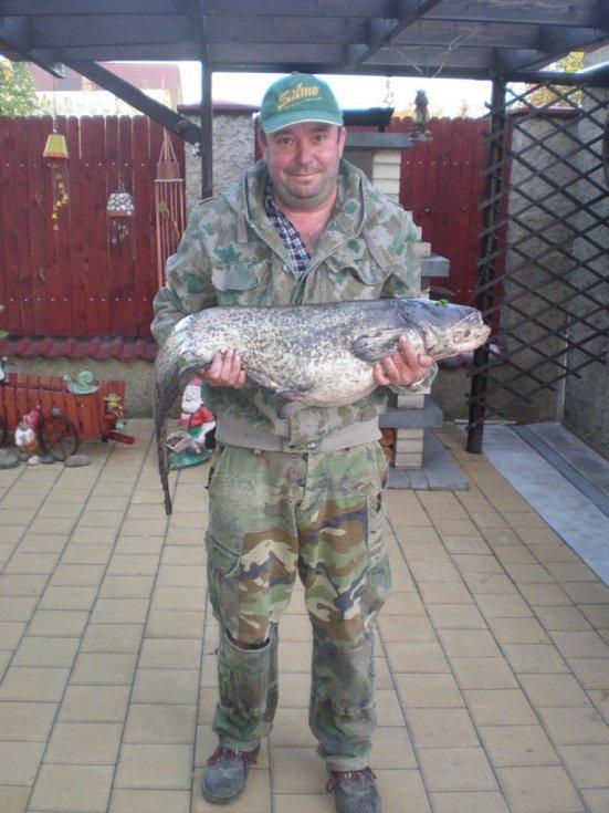 Soutěžní číslo 127 - Miroslav Šamánek, sumec, 140 cm a 9 kg.