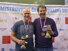 Squashista Slovácké Slavie Uherské Hradiště Pavel Blaha vybojoval na 25. mistrovství České republiky stříbrnou medaili.