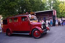Do Bojkovic se sjela historická hasičská technika.