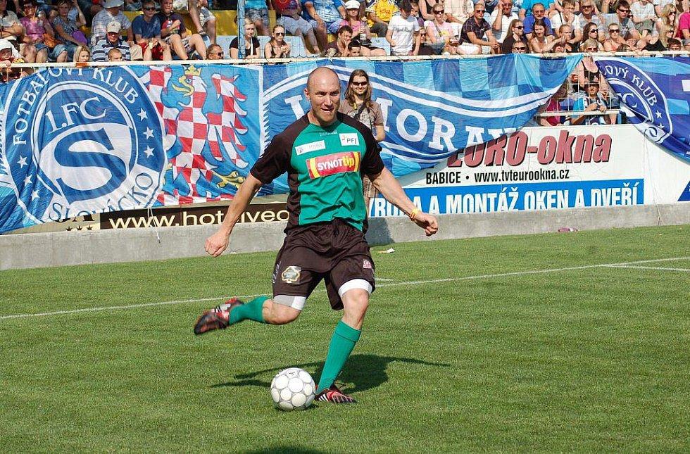 Fotbalová benefice ve Starém Městě. Karel Rachůnek.