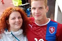 Sestra Dana je velkou fanynkou Vlastimila Daníčka, jeho start v reprezentačním dresu si nemohla nechat ujít.