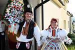 Soutěžní pár 43 - Lucie Trávníčková a Dominik Zach, Boršice, mladší stárci na hodech 20. - 21. října.