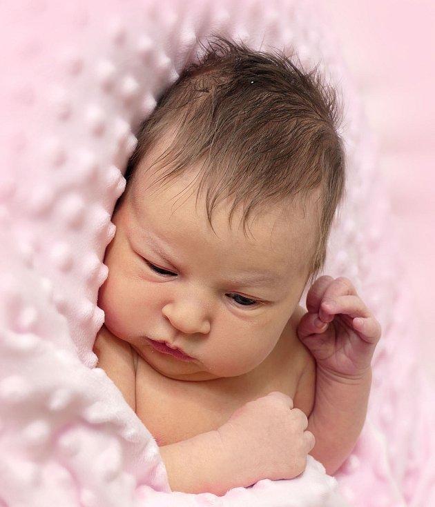 Marie Lukešová,  Suchá Loz, narozena 15. února 2021 v Uherském Hradišti, míra 51 cm, váha 3610 g