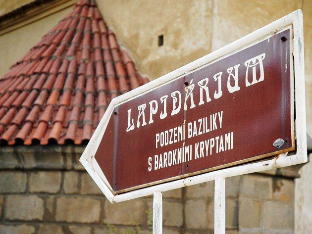 Lapidárium pod velehradskou bazilikou.