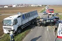 3. dubna v 8:39 došlo na křižovatce u Ostrožské Lhoty k vážné dopravní nedodě 3 osobních vozů a jednoho nákladního.