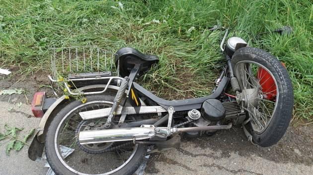 Nehoda s těžkým zraněním se stala ve středu 9.července u Újezdce ve směru na Medlovice.