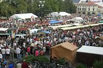 Masarykovo náměstí v metropoli Slovácka i přilehlé ulice zcela zaplnily davy návštěvníků