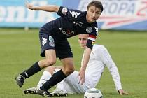 FC Hradec Králové - 1.FC Slovácko. Zleva Michal Kordula a Pavel Dvořák.