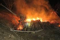 Požár chaty