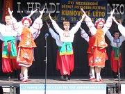 Kunovjané přivítaly Lotyšský soubor tancem.
