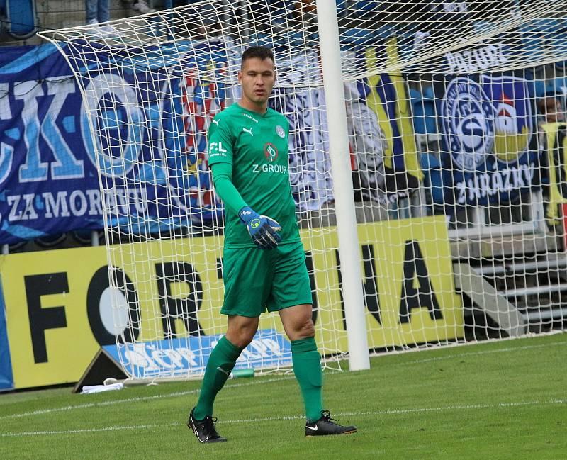 Brankář Slovácka Filip Nguyen.