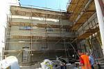 Stavba Komunitního centra v Uherském Brodě je v červenci 2020 v plném proudu.