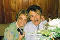 František Kolečkář s manželkou.