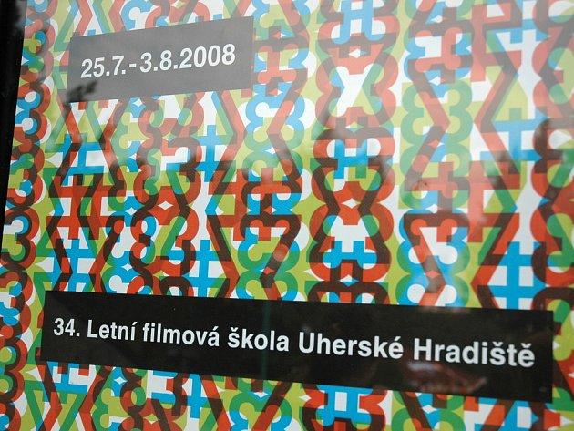 Plakát 34. ročníku Letní filmové školy v Uherském Hradišti.