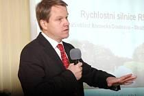 Martin Bursík na jednání o komunikaci R55.