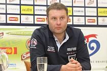 Tisková konference 1. FC Slovácko před startem do jarní části sezony. Trenér 1. FC Slovácko, Svatopluk Habanec.