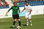 HET liga 1. kolo: 1. FC Slovácko - FK Jablonec. Na snímku vpravo Marek Havlík.