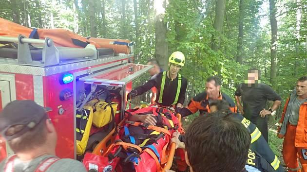 Zranění paraglidisty na Uherskohradišťsku