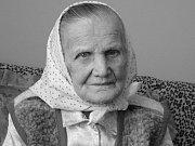 Nejstarší šumická rodačka Anděla Hřibová 23. dubna 2016 oslaví 105. narozeniny