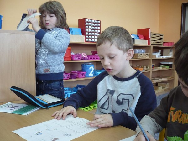 Třída Montessori vZákladní škole Za Alejí vUherském Hradišti