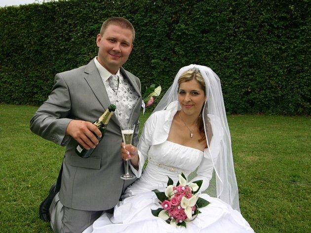 Soutěžní svatební pár číslo 122 - Lenka a Lukáš Hájkovi, Moravský Písek.