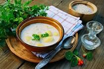 Brynzová polévka.