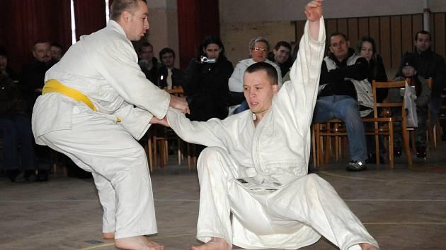Ukázky jiu-jitsu v Nedakonicích.