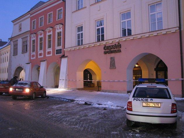 Anonym ohlásil 9. ledna 2009 bombu v České spořitelně v Kroměříži. Nakonec se ukázalo, že tam žádná není.