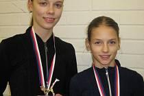 Adriana Slaníková a Klára Světlíková vybojovaly v Náchodě bronzovou a stříbrnou medaili.