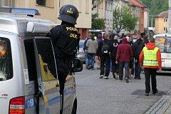 Fotbaloví fanoušci v Uherském Hradišti. Ilustrační foto.