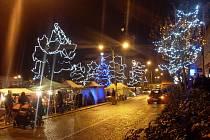 Vánoční výzdoba v Uherském Brodě. Ilustrační foto.