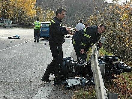 Tragická nehoda motorkářů v Buchlovských horách