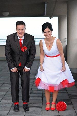 Soutěžní svatební pár číslo 1 - Tomáš a Silvie Minaříkovi, Bohuslavice uZlína.