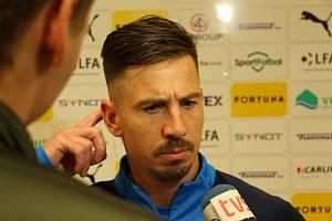 Zkušený fotbalista Slovácka Milan Petržela v akci