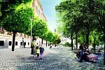 Vítězný návrh architektonické soutěže o novou podobu Mariánského náměstí v Uherském Brodě.