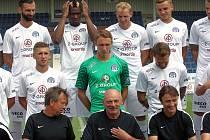 Fotbalisté 1. FC Slovácko na fotbalovém stadionu v Uherském Hradišti.