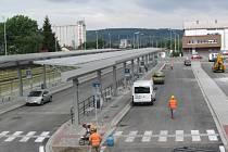 Práce na jedné části Dopravního terminálu v Uherském Brodě finišují.
