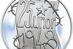 Symbolika čísel. Stříbrných medailonů mincovna vyrazí maximálně 1948 kusů. (Zobrazena lícní strana).