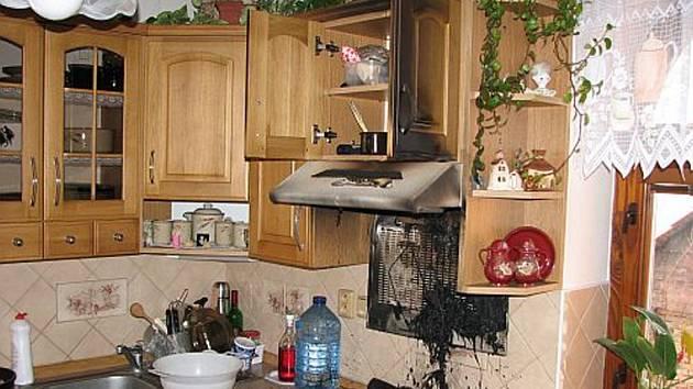 Požár digestoře vyděsil.