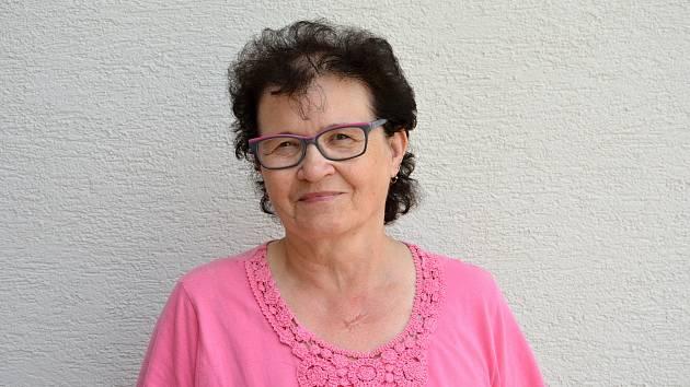 Starostka Sazovic Edita Hrbáčková. Snímek z 24. června 2021.